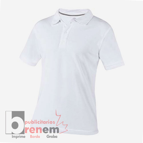 43a1460e5fb9f PLY 009 B-M   Playera Polo Lutry Color Blanco Talla Mediana ...